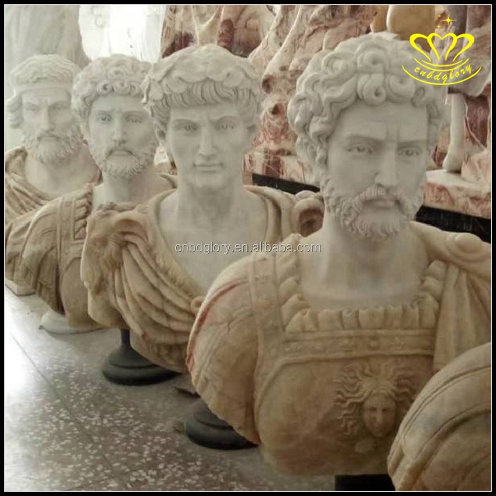 White marble resin Plato Bust Statue indoor table top Decorations sculpture