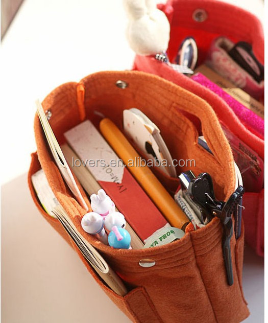 Korean small felt tote bag/felt wool bag supplier
