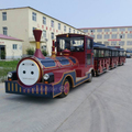 Amusement park mini electric trackless tourist train rides