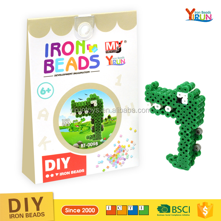 2016 Newest Puzzle Toy DIY Perler Beads for kids free educational kit