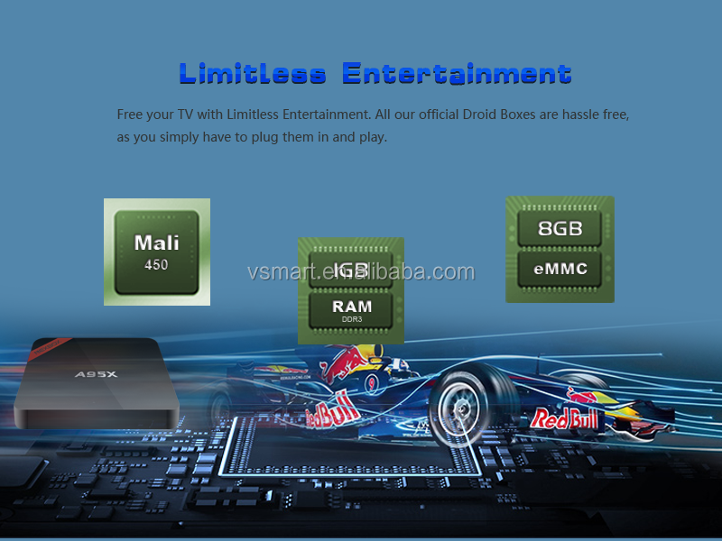 Vensmile A95X Amlogic S905X Android 6.0 Quad Core 4K best selling tv box wholesale android smart tv set top box