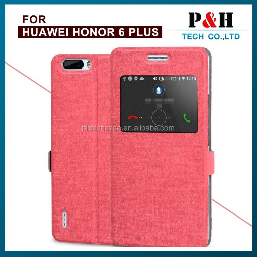 Original Huawei Huawei honor 6 4c Luxury Flip Leather Case with Double Smart View Window Mobile Phone