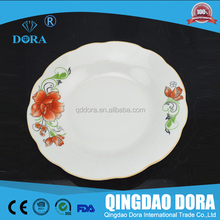 hot sale ceramic christmas cake plate with server