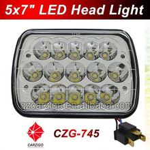 high intensity 2015 new design with hi/lo beam 7 inch square semi truck led lite