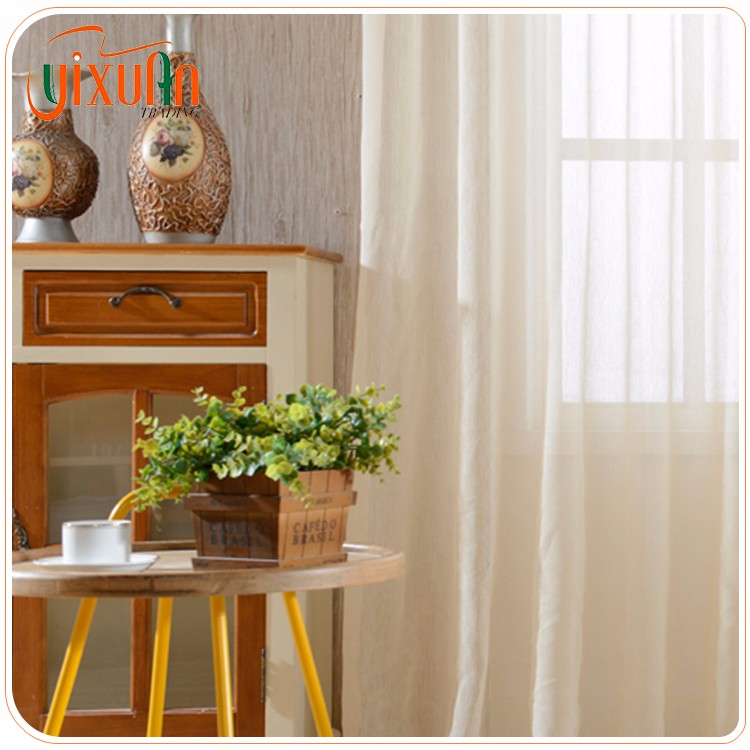 Wholesale white tulle striped crewel fabric net curtain market for read made