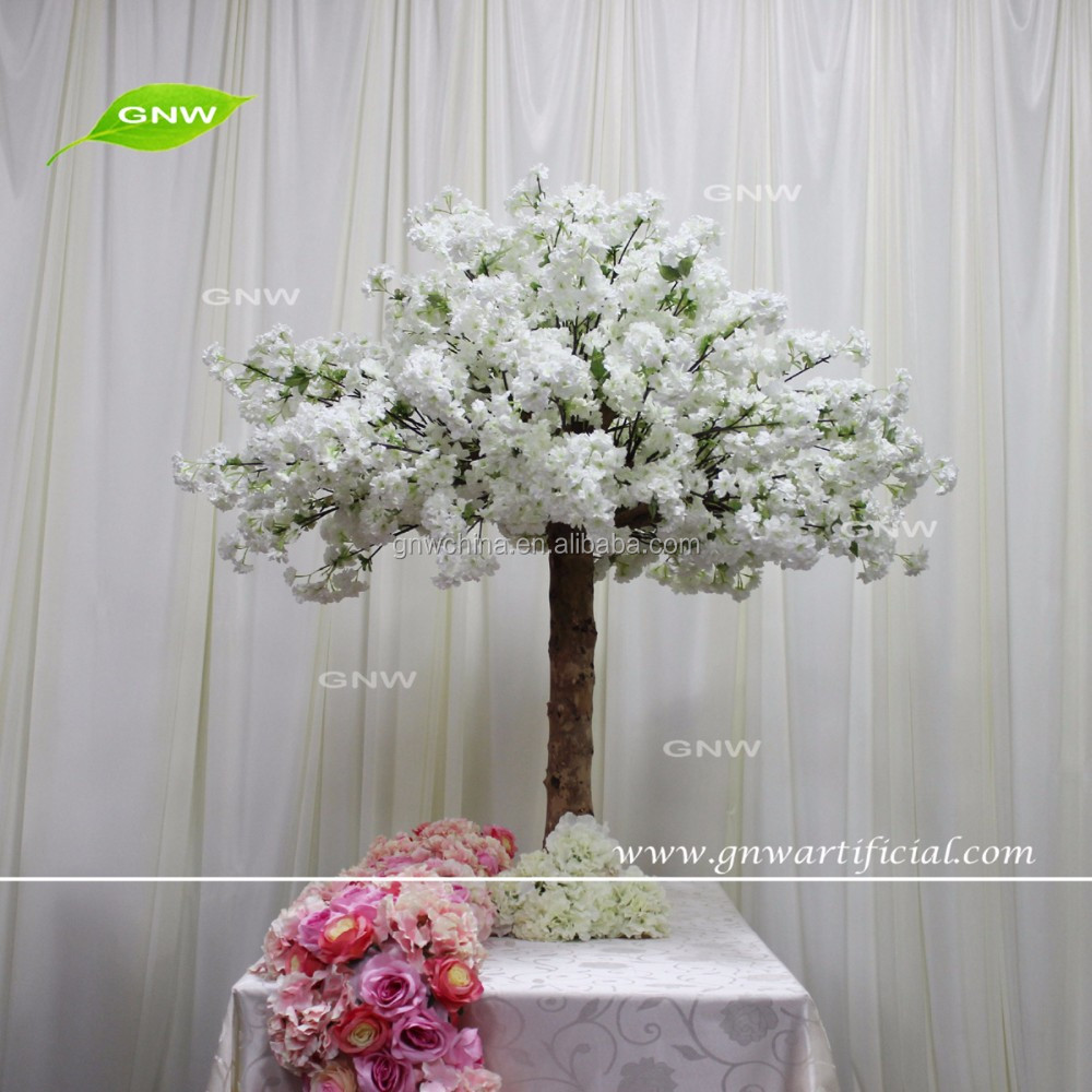 CTR161018-001 GNW artificial cherry blossom trees bases for weddings table centerpieces decoration