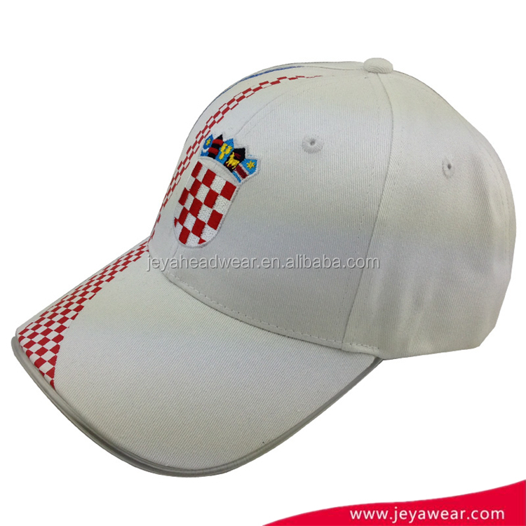 Factory Custom top quality embroidery Baseball Caps printed cap with Led Lights