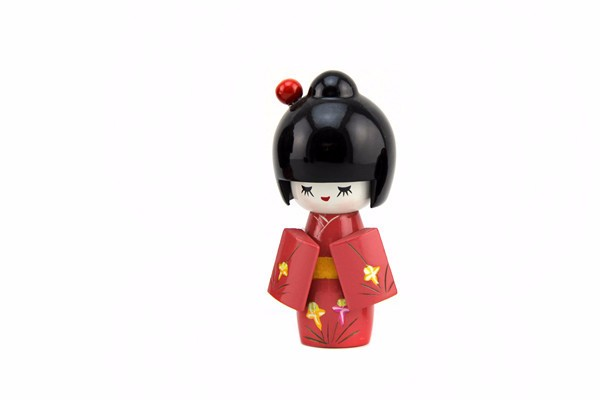 newest design wooden crafts decoration supplies japanese doll