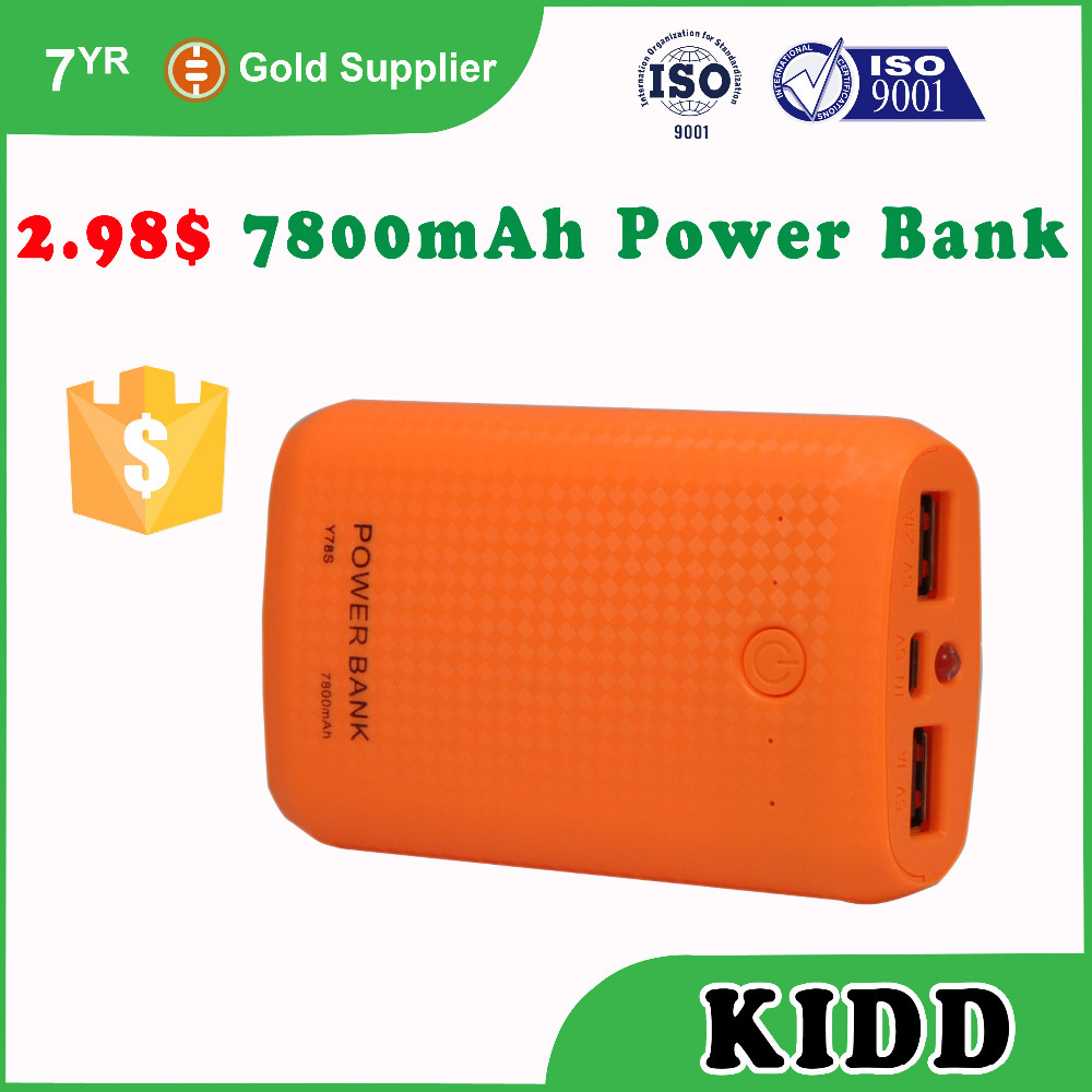 Special offer wholesale KIDD OEM power bank 7800mah $2.98 up HK electronic fair 3C-A32