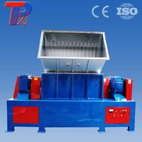 Double-shaft solid used rubber tyre shredder Guangzhou
