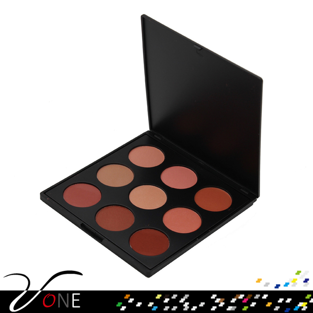 Kiss beauty blusher 9 colors blush palette make your own brand makeup