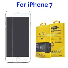 Amazon China Supplier 9H 2.5D Tempered Glass Screen Protector for iPhone 7