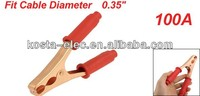 Auto Car 100A Battery Test Clip Alligator Clamp Red