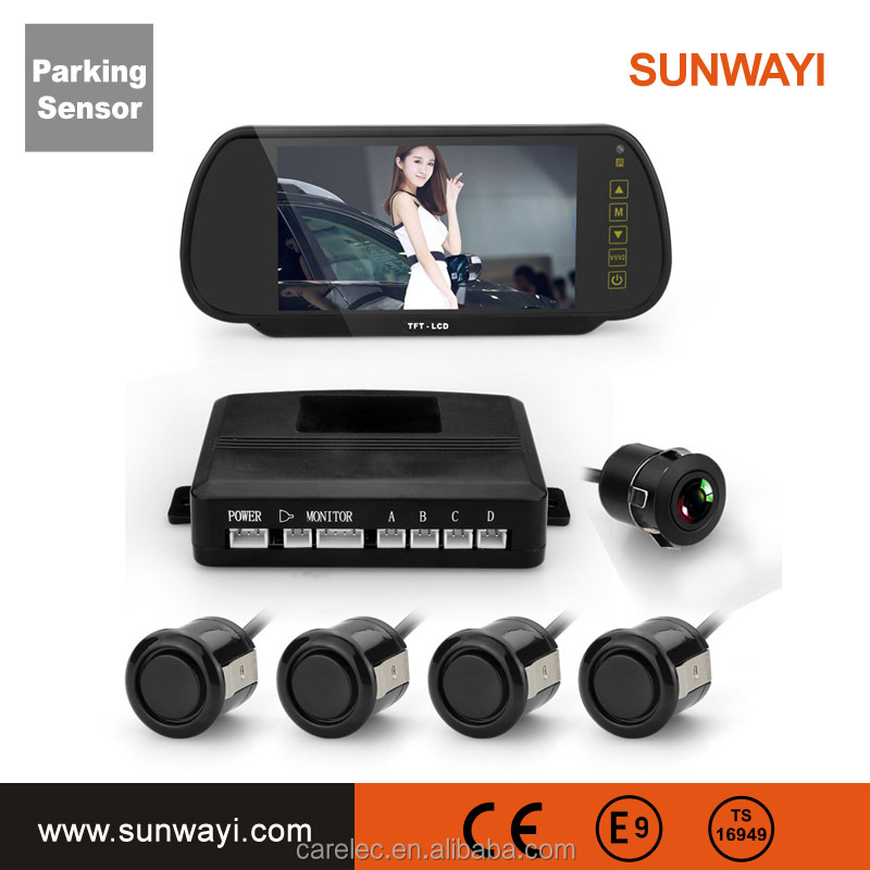 "7"" Mirror display Parking Sensor With Bluetooth and MP5"