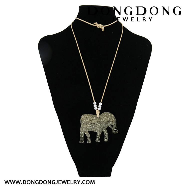 Small elephant shape copper beads Necklace Jewelry Necklace Jewelry Necklace