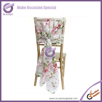 #17943 Chiffon wedding decoration organza fabric chair covers and table covers
