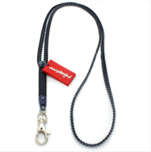 personalized logo rubber puller fashion plastic zipper lanyards