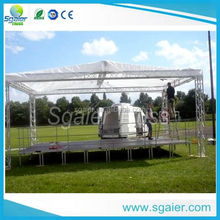 aluminum black color plywood concert stage