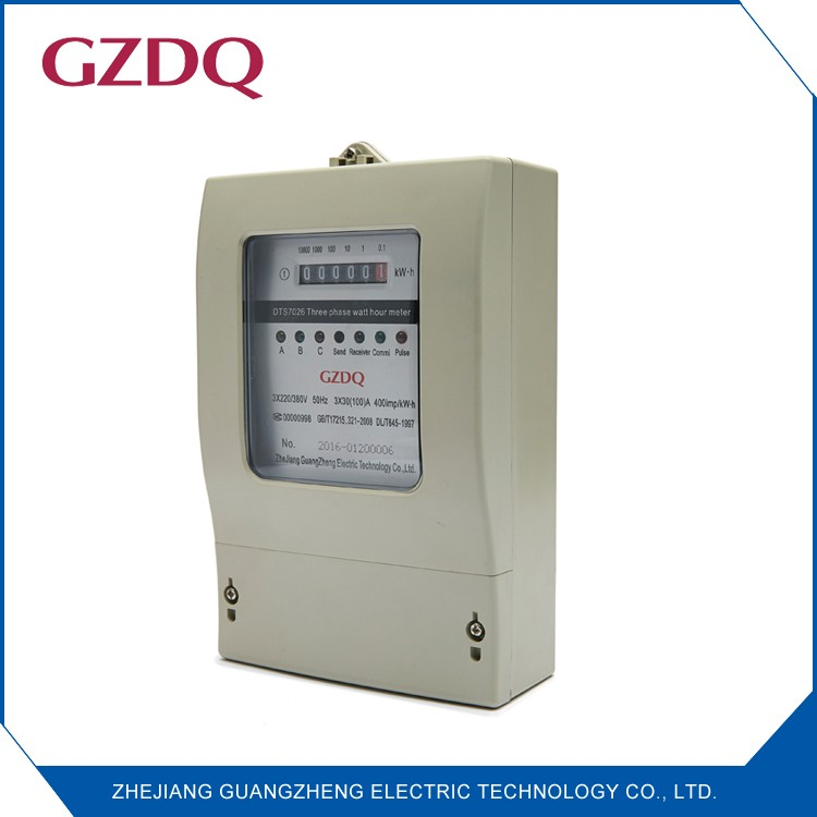 Flame retardant ABS material analog display AC active three phase four wire watt hour meter
