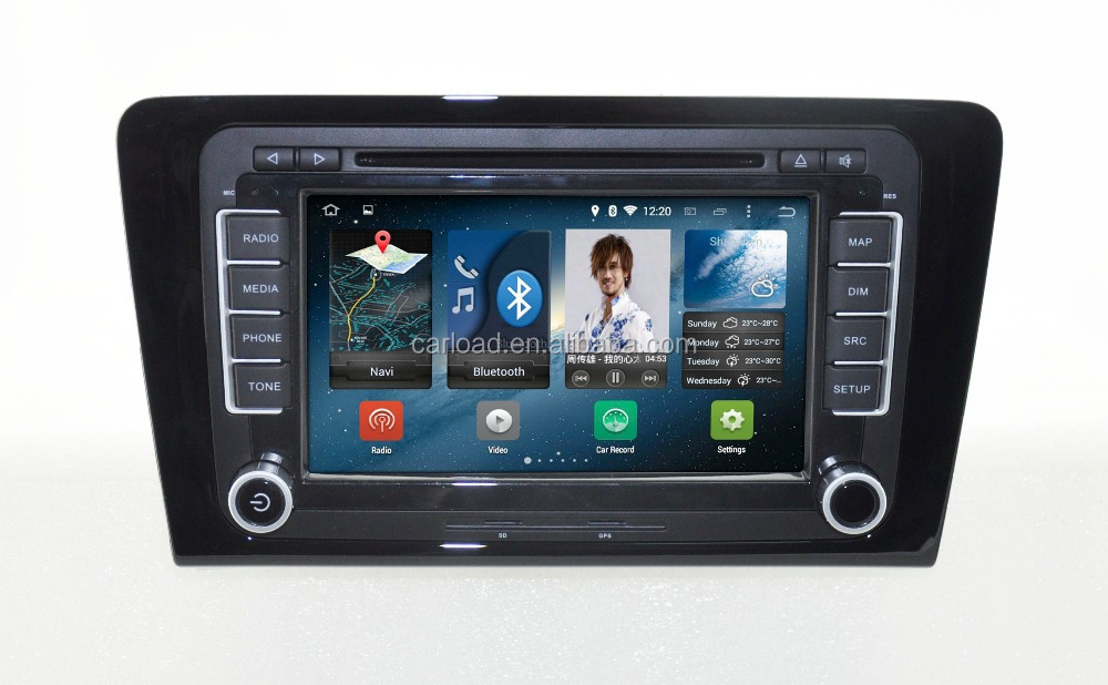 Android 4.4.4 quad core VW car dvd for 2 din VW Santana 2013 car gps