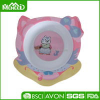 Mouse & cat printed 100% melamine cute baby fruit salad bowl