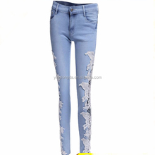 Elegante damamged niñas ripped <span class=keywords><strong>jeans</strong></span> leggings