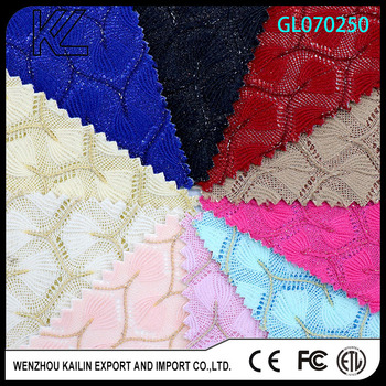 GL070250 Chunky Glitter fabric with flower design for shoe upper Pattern Design Material pu leather