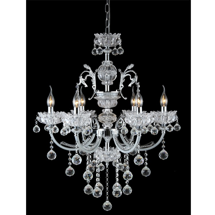 New style oem custom made transparent crystal and metal for Plastic chandeliers for parties