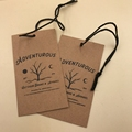 Custom printed cardboard recycled swing tag for jeans
