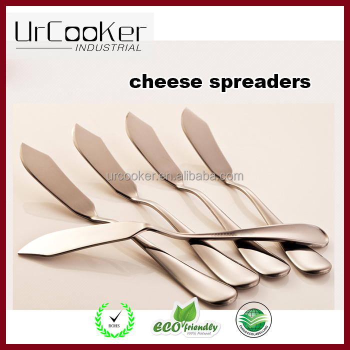 Amazon stainless steel cheese pizza knives and spreaders wholesale,cheese spreader blades