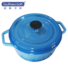 China Supplier Blue Enamel Coating Cast Iron Cookware with Resonable Price
