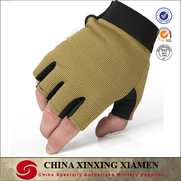 dessert knit army half finger military gloves for shooting