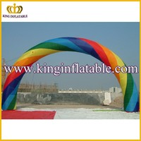 Hot Colorful Lighting Inflatable Rainbow Arches, Custom Inflatable Party Decorative Arches