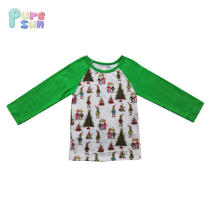 Latest Wholesale Children Clothes Long Sleeve T-shirt Kids Summer Clothing Cotton Baby Christmas T Shirts For Boys