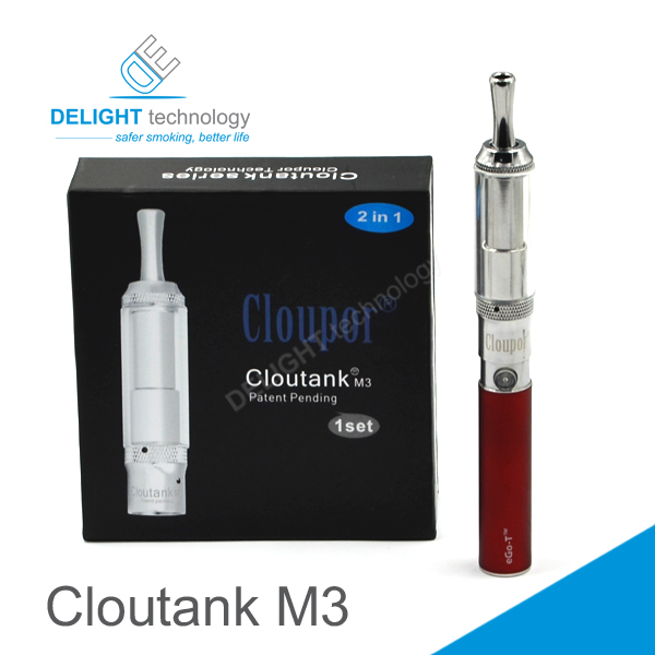 New technology product in China Delightech dry herb e cigarette cloutank m3 refillable self-cleaning dry herb vaporizer
