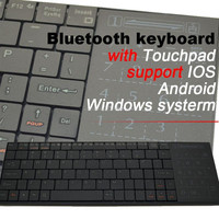 Newest Untra Thin Bluetooth Keyboard with Touchpad Wireless Portable Keypad