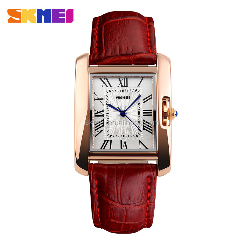 Best Selling Products Relogio Colorful Leather Strap Luxury Ladies Watches 2015