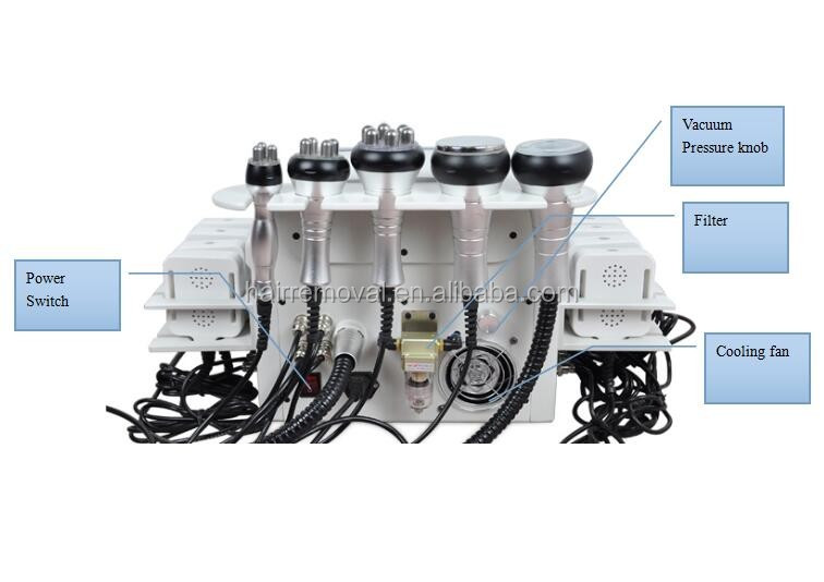 2015 top sale fast slimming cavitation laser slimming 6 in 1 ,cavitation rf and laser machine