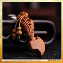 Manufacturers Selling Dragon Axe Cheap Wood Key chain Wholesale WJ3013