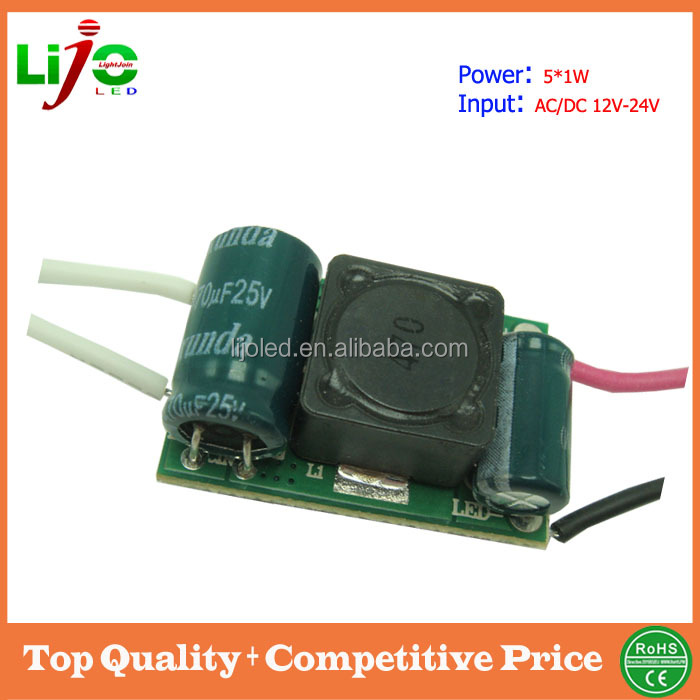ac dc 5w solar light 12v mini led driver