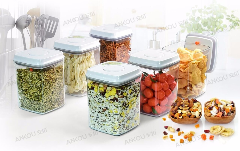 Factory Directly Supply 2300ML Food Grade BPA Free Rectangle Plastic  Containers/Vacuum Sealed Storage Container Set