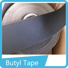 black single sided Non Woven Butyl Mastic tape