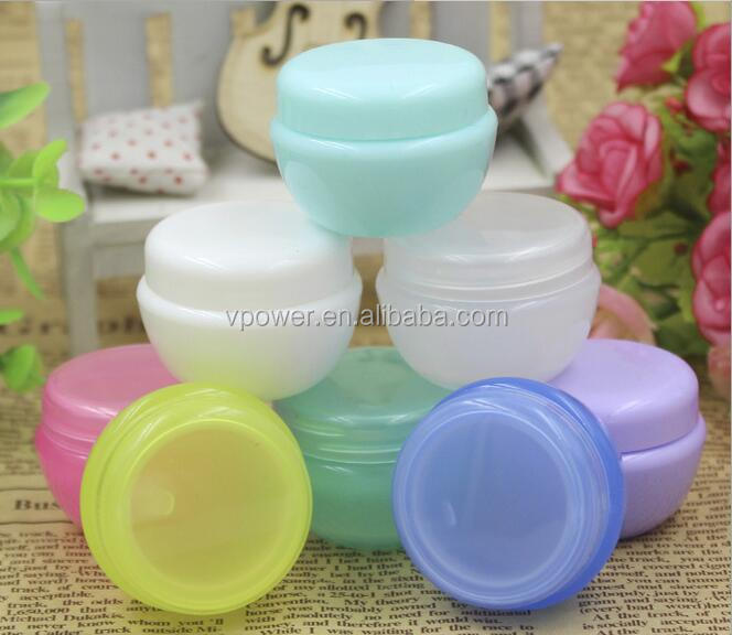 Hot sealing 5g PP plastic cosmetics cream empty jar small empty cosmetic powder containers, cosmetic sample containers pots