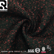 FW18 High Quality Twill Loop 100% Polyester Woven Wool Polyester Fabric For Coats