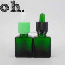 Green 15ml dropper liquid medicine glass bottles for oils cheap