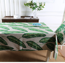 hotel decor event decoration green leaf table cloth linen for sale