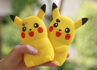 Alibaba express mobile accessories 3D silicone phone case cute cartoon pikachu phone case for samsung galaxy s7 edge