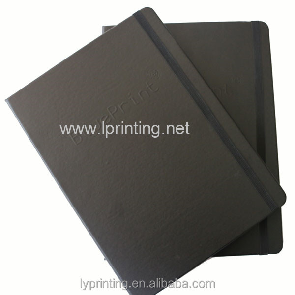 Embossing handmade leather hardcover journal notebook printing