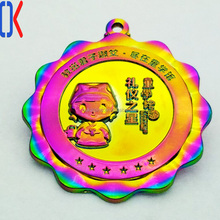 China Wholesale Custom Rainbow Plating Metal Lapel Pin Badge