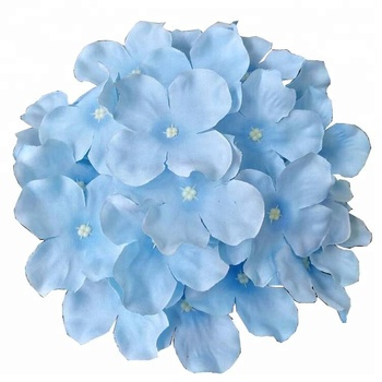 Wholesale real touch silk artificial hydrangea flower for wedding flowers